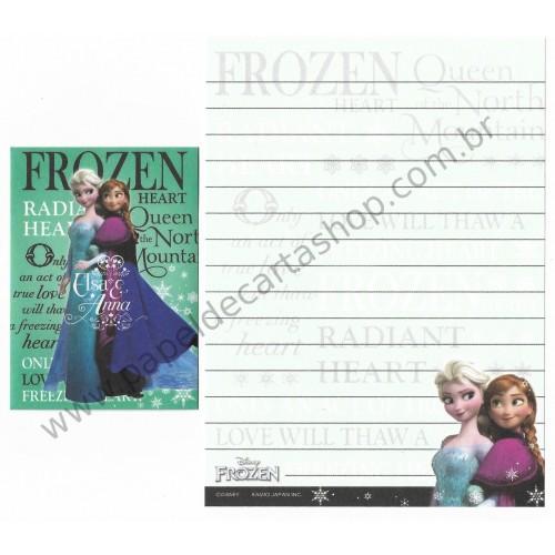 Conjunto de Papel de Carta Pequeno Importado Disney FROZEN CVD Japan