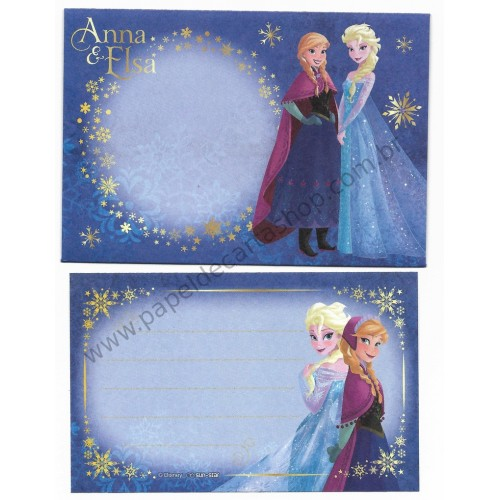 Conjunto de Mini-Papel de Carta Importado Disney FROZEN CAZ Japan