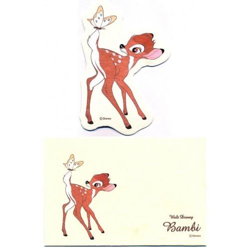 Conjunto de Mini-Cartão Importado Disney BAMBI Japan