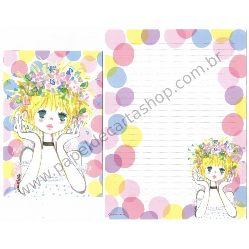 Conjunto de Papel de Carta com envelope ADO MIZUMORI 0036