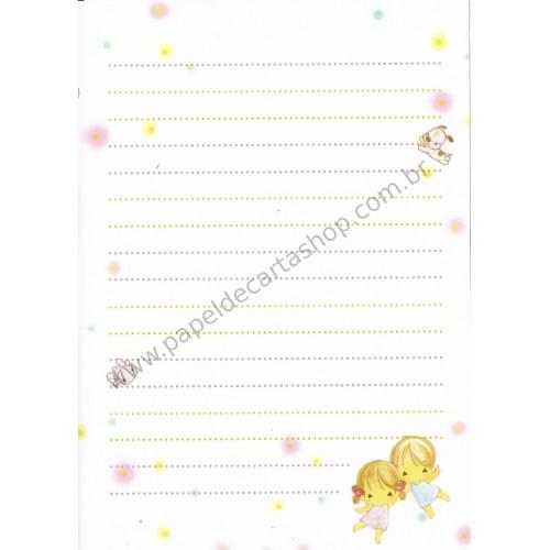 Papel de Carta Avulso Importado AMY & TIM 14