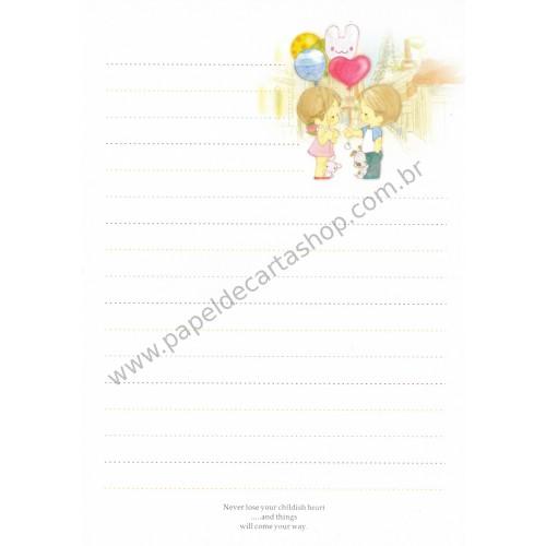 Papel de Carta Avulso Importado AMY & TIM 17