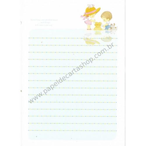 Papel de Carta Avulso Importado AMY & TIM 18