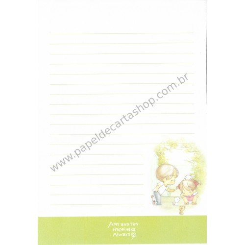 Papel de Carta Avulso Importado AMY & TIM 20
