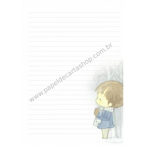 Papel de Carta Avulso Importado AMY & TIM 45