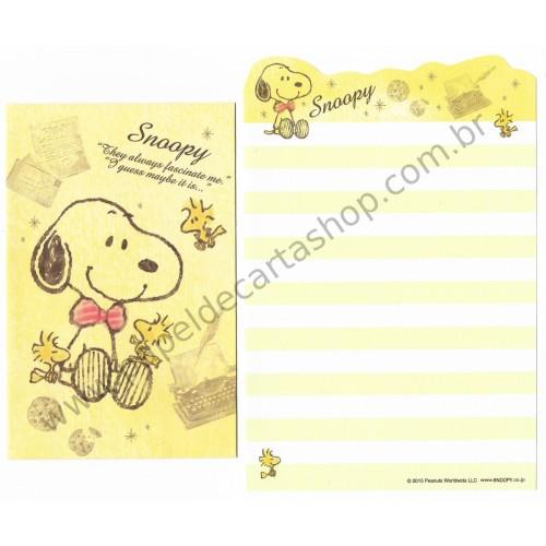 Kit 2 Conjuntos de Mini-Papéis de Carta Snoopy CAM Peanuts