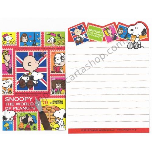 Kit 2 Conjuntos de Mini-Papéis de Carta World of Peanuts