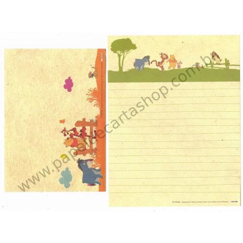 Conjunto de Papel de Carta Importado Disney Pooh NEW1
