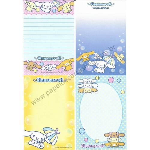 Ano 2004. Kit 4 Notas Cinnamoroll Umbrella Sanrio