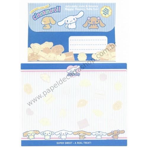 Ano 2004. Conjunto de Papel de Carta Cinnamoroll Super Sweet Sanrio