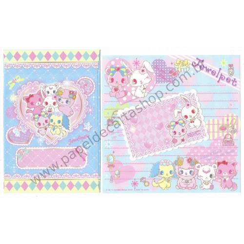 Ano 2014. Kit 3 Conjuntos de Papel de Carta Jewelpet Sanrio/ SEGA TOYS