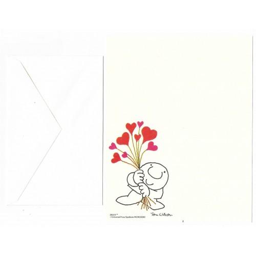 Conjunto de Papel de Carta Antigo Importado Ziggy Heart