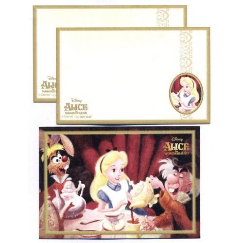 Conjunto de Mini-Papel de Carta Importado Disney ALICE Japan