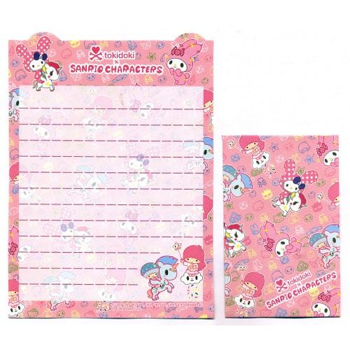 Ano 2013. Kit 2 Conjuntos de Mini-Papel de Carta TOKIDOKI & Sanrio Characters CRS