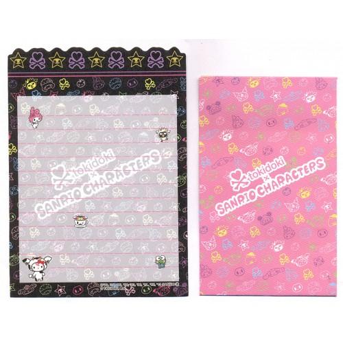 Ano 2013. Kit 2 Conjuntos de Mini-Papel de Carta TOKIDOKI & Sanrio Characters CBL