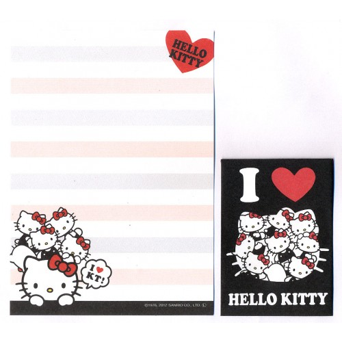 Ano 2012. Kit 2 Conjuntos de Mini-Papel de carta I Love Hello Kitty