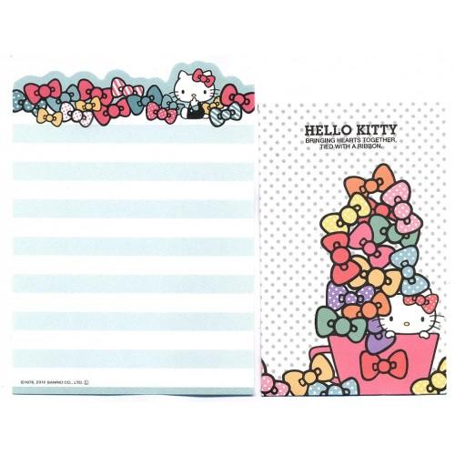Ano 2013. Kit 2 Conjuntos de Mini-Papel de carta Hello Kitty Ribbons