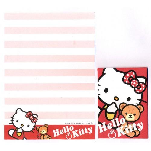 Ano 2012. Kit 2 Conjuntos de Mini-Papel de carta Hello Kitty & Bear Sanrio