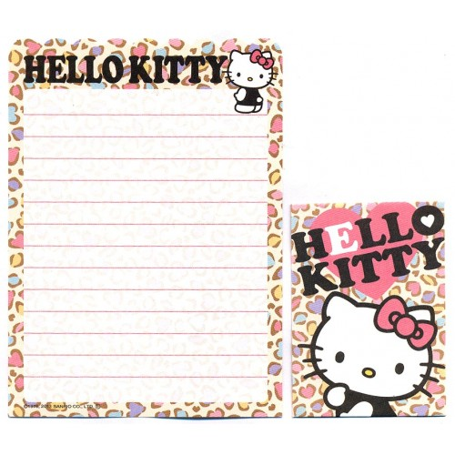 Ano 2013. Kit 2 Conjuntos de Mini-Papel de carta Hello Kitty Sanrio