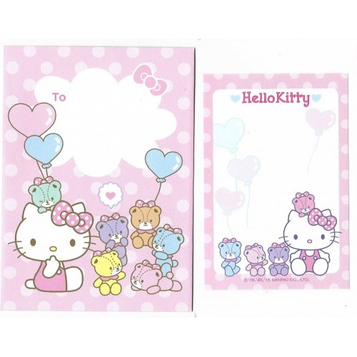 Ano 2015. Conjunto de Mini-Papel de carta Hello Kitty CRS Sanrio