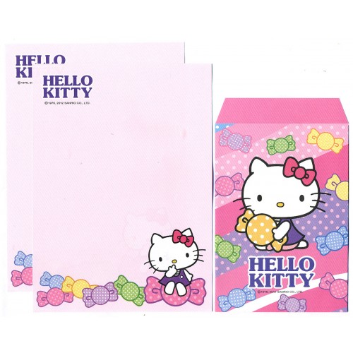 Ano 2012. Conjunto de Mini-Papel de carta Hello Kitty Candy CRS Sanrio