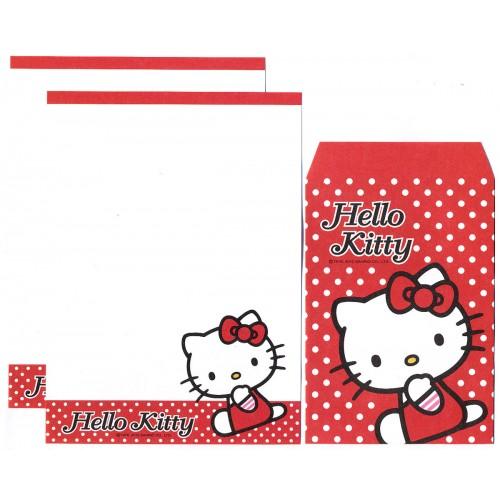 Ano 2012. Conjunto de Mini-Papel de carta Hello Kitty Dots CVM Sanrio