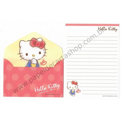 Ano 2015. Conjunto de Mini-Papel de carta Hello Kitty CLA2 Sanrio