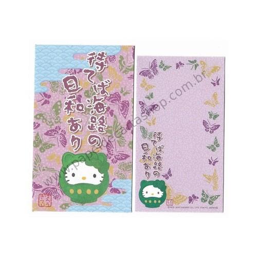 Ano 2007. Coleção 7 Mini Papéis de Carta com Envelope GOTŌCHI Kitty