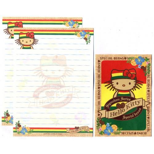 Ano 2001. Conjunto de Papel de Carta Pequeno Hello Kitty Special Beans Sanrio