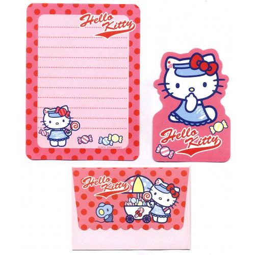 Ano 2004. Conjunto de Papel de Carta Pequeno Hello Kitty Lollypop Sanrio