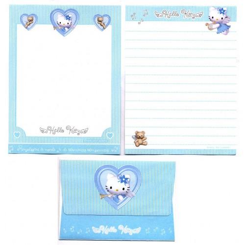 Ano 2001. Conjunto de Papel de Carta Pequeno Hello Kitty Angel Sanrio