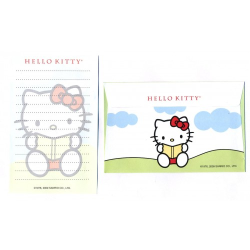 Ano 2009. Conjunto de Papel de Carta Hello Kitty Pequeno CVD Sanrio