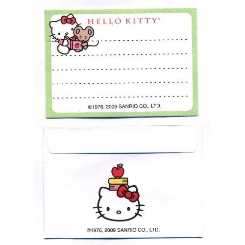 Ano 2009. Conjunto de Mini-Papel de Carta Hello Kitty CVD1 Sanrio