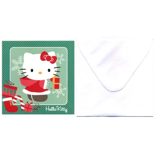 Ano 2013. Notecard Christmas Hello Kitty CVD Sanrio