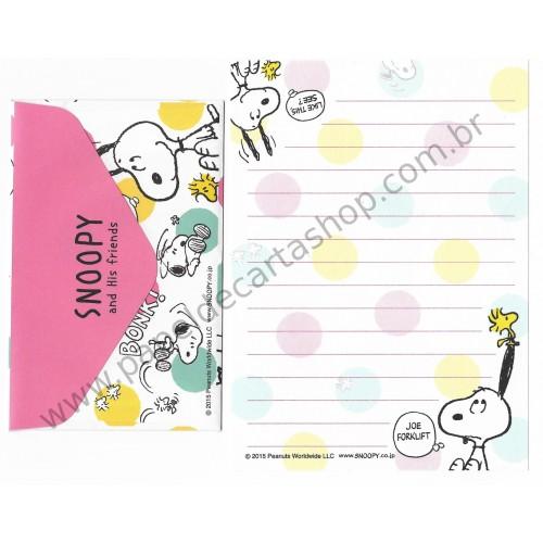 Kit 2 Conjuntos de Mini-Papéis de Carta SNOOPY BONK Peanuts