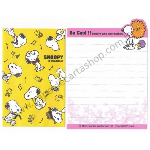 Kit 2 Conjuntos de Mini-Papéis de Carta SNOOPY So Cool Peanuts