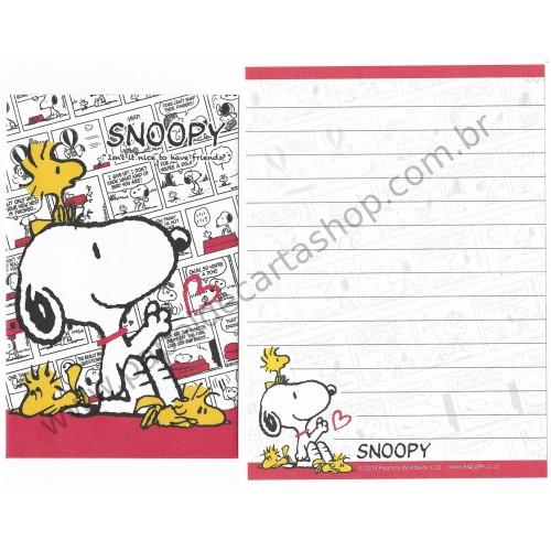 Conjunto de Mini-Papel de Carta SNOOPY NICE CVM Peanuts