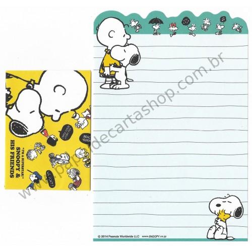 Kit 2 Conjuntos de Mini-Papéis de Carta SNOOPY Superstar Peanuts