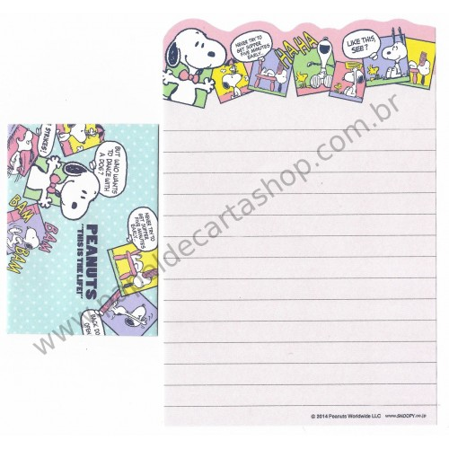 Kit 2 Conjuntos de Mini-Papéis de Carta SNOOPY Life Peanuts