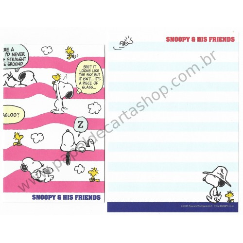 Conjunto de Mini-Papel de Carta SNOOPY & Friends CRS Peanuts