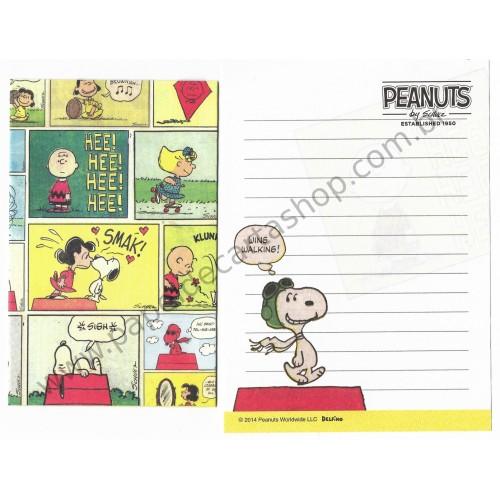 Kit 2 Conjuntos de Mini-Papel de Carta SNOOPY VINTAGE Peanuts