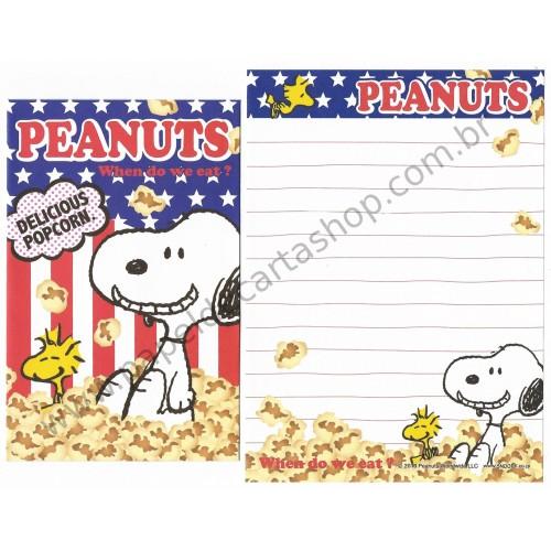 Kit 2 Conjuntos de Mini-Papel de Carta SNOOPY POPCORN Peanuts