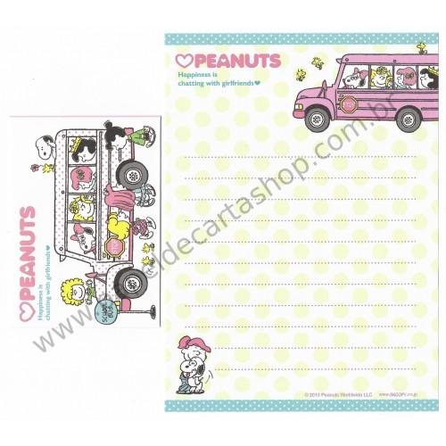 Kit 2 Conjuntos de Mini-Papel de Carta SNOOPY & Girlfriends Peanuts