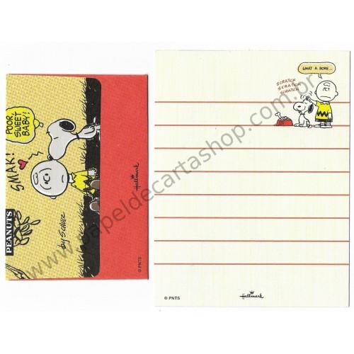 Conjunto de Mini Papel de Carta Snoopy and Charlie Smak