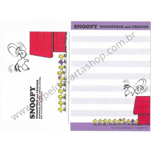 Conjunto de Papel de Carta Pequeno Snoopy Woodstock & Friends CLL Peanuts