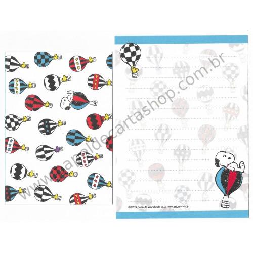 Conjunto de Papel de Carta Pequeno Snoopy Woodstock & Friends CAZ Peanuts
