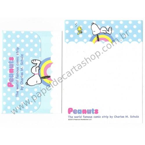 Conjunto de Papel de Carta Pequeno Snoopy Rainbow Peanuts
