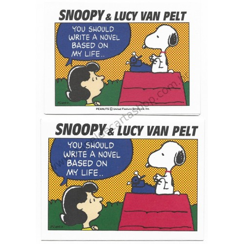 Conjunto de Mini-Papel de Carta Snoopy & Lucy Van Pelt Peanuts