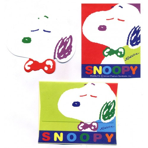 Conjunto de Mini-Papel de Carta Snoopy DC Peanuts