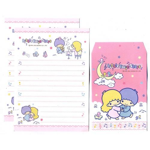 Ano 2012. Conjunto de Papel de Carta P Little Twin Stars Sanrio